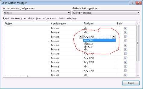 visual studio 2010 reset project settings c how to set a project output platform to x86 in visual