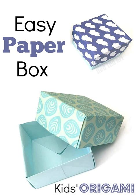 How To Make A Simple Paper Box - how to make a paper box tutorial ted s