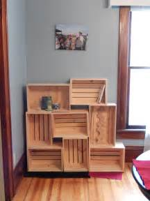 wine crate bookshelves wine box pine house