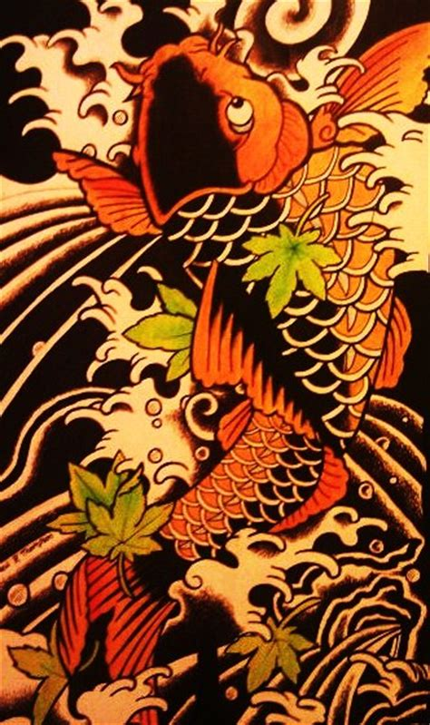 Japanese Koi Tattoo Wallpaper | japanese koi fish by battenburgg on deviantart