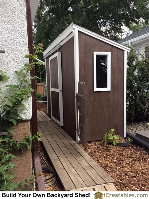 pent roof lean  shed built  canada icreatablescom