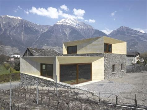 Modern House Overlooking the Alps