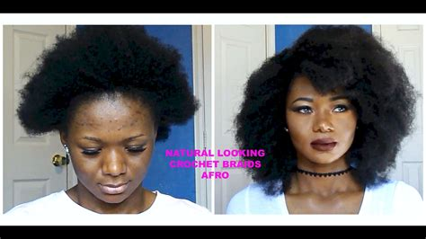 FAUX AFRO~NATURAL LOOKING CROCHET BRAIDS (No Leave Out