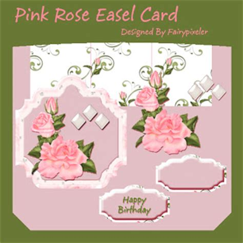 free cards to make fairypixeler crafts pink easel card it s free