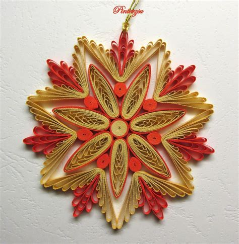 quilling ornaments tutorial 17 best images about quilling snow flacks on pinterest
