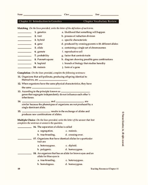 Introduction To Biology Worksheet by Introduction To Genetics Worksheet Worksheets