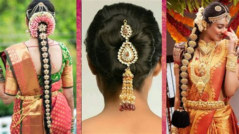 Hindu Wedding Hairstyles For Hair by Indian Bridal Hairstyles Wedding Hairstyles Step By Step