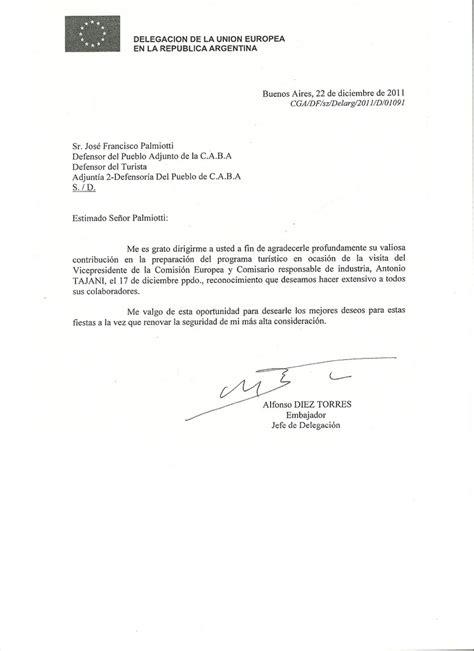 como redactar una carta a un jefe carta de agradecimiento del jefe de delegaci 243 n y embajador