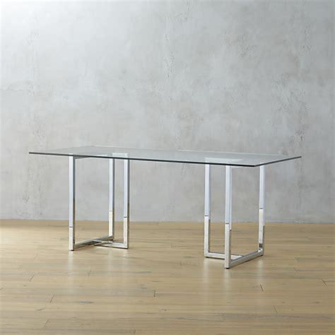 silverado chrome 72 quot rectangular dining table cb2