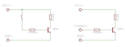transistor npn als schalter transistor mikrocontroller net