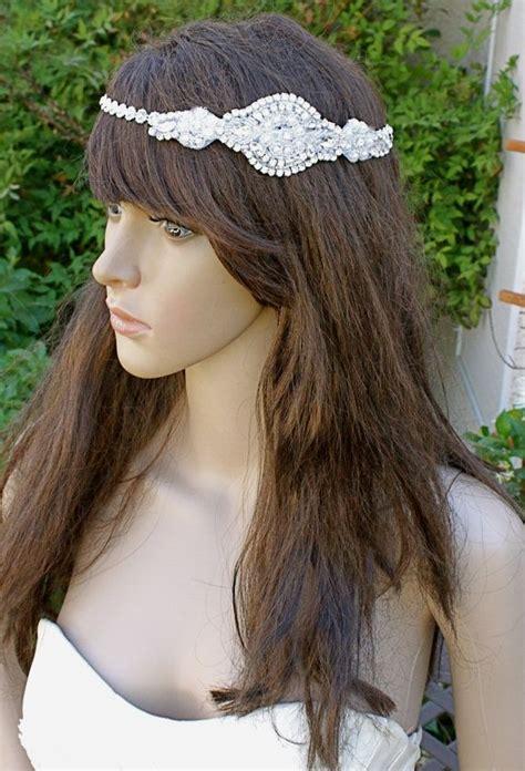 hairstyles with diamond headband deco silver diamond headband great gatsby vintage