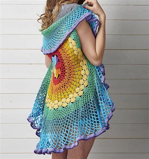free printable crochet vest patterns granny circle vest crochet pattern bronze cardigan