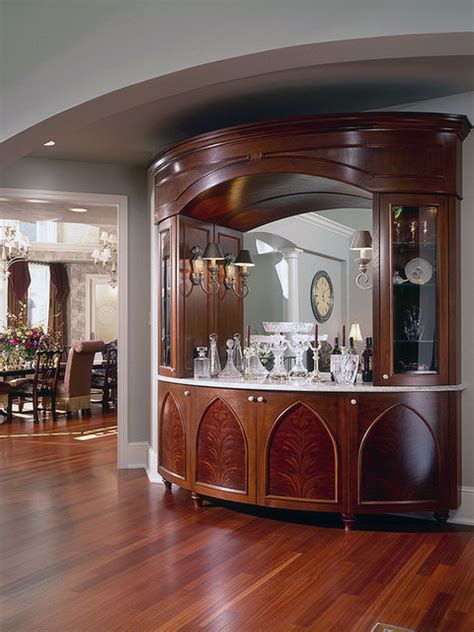 Osterman Bar Dining Room Dining Room Bar Cabinet Traditional Dining Room