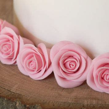 How To Make Sugar Roses For Cake Decorating by Edible Pink Cake Toppers Flower From Greencaligo On Etsy