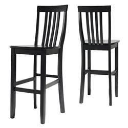 30 Inch Seat Height Bar Stools School House Bar Stool In Black Finish With 30 Inch Seat