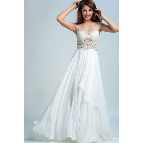 Dress White Pretty princess prom dresses white a line princess evening