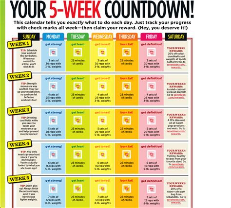 planning out the week fitness geekiness helen s digest best body 5 week workout plan getting