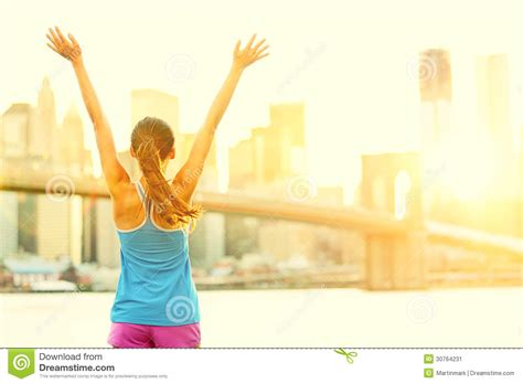 Are You Excited For The And The City by Happy Cheering In New York City Stock Image Image