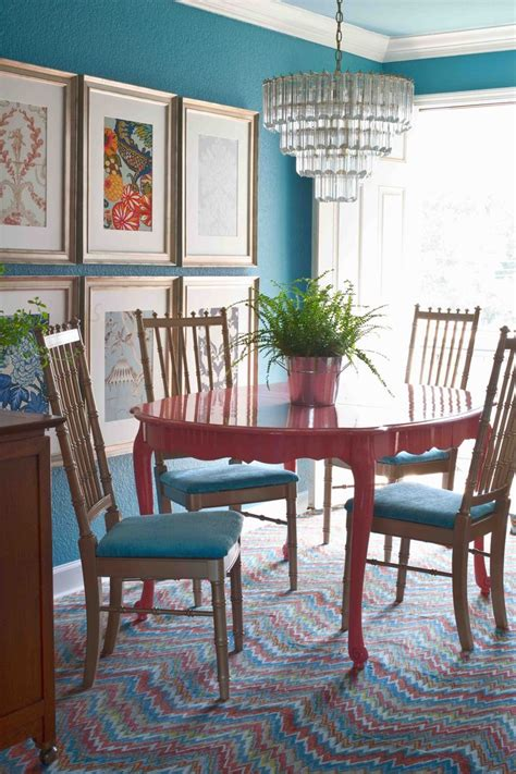 Colors For Dining Room | teal and coral guest room colors home house