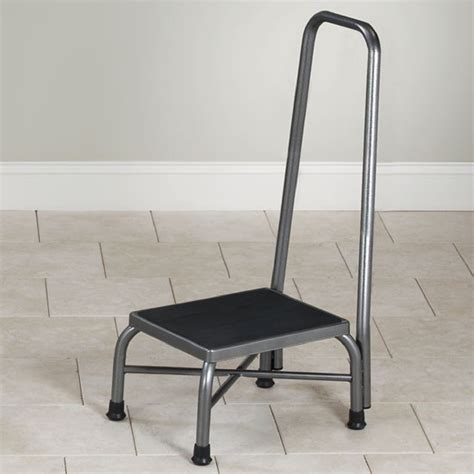 bariatric step stool with two handrails clinton bariatric step stool with handrail