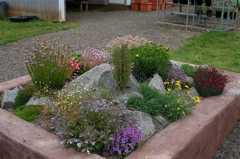 How To Build A Rock Garden Bed Miniature Rock Garden In Raised Bed Rockery Ideas Pinterest