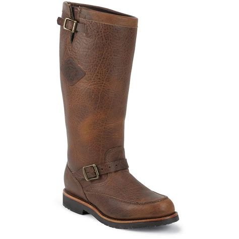 snake boots s chippewa 174 boots 17 quot moc toe snake boots bison