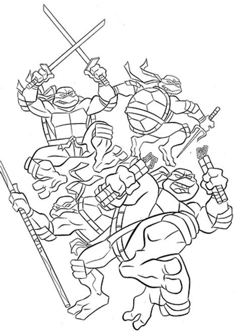 Free Ninja Turtles Coloring Pages Tmnt Coloring Pages