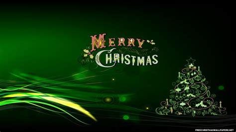 green merry christmas wallpaper