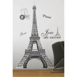 eiffel tower giant wall stickers home decor wall stickers eiffel tower wall stickers by parkins interiors