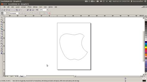 tutorial buat logo di coreldraw tutorial coreldraw cara membuat logo apple