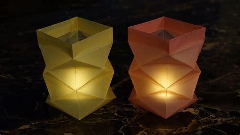 Teelichter Basteln Weihnachten by Basteln Zu Weihnachten Windlichter Aus Papier Falten