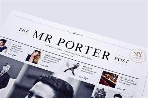 video media layout masthead masthead design for the mr porter post design masthead