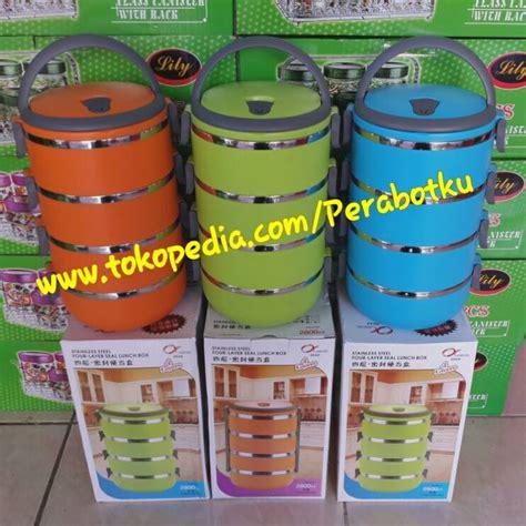 Rantang Lunch Box Kotak Makan Bekal Stainless Susun 3 Promo jual rantang susun 4 lunch box kotak makan bekal