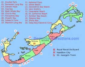 beaches in map bermuda map