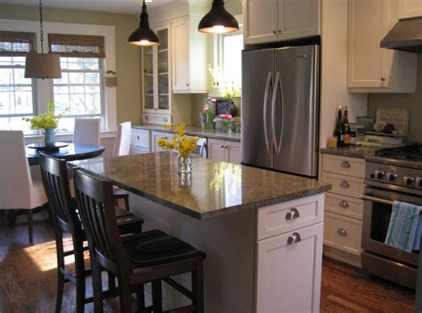 small kitchens with island how to design a small kitchen with seating and dining room