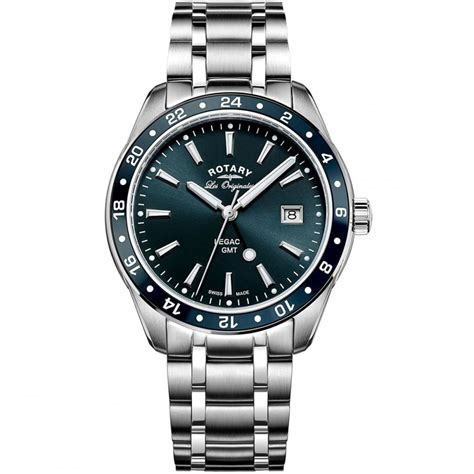 rotary s legacy gmt blue swiss watches