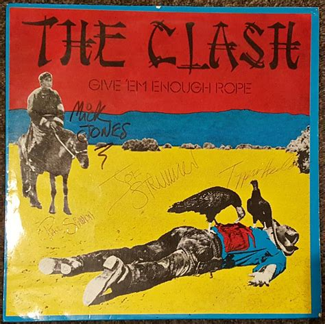 Clash Give Em Enough Rope Cd lot detail the clash signed quot give em enough rope quot album