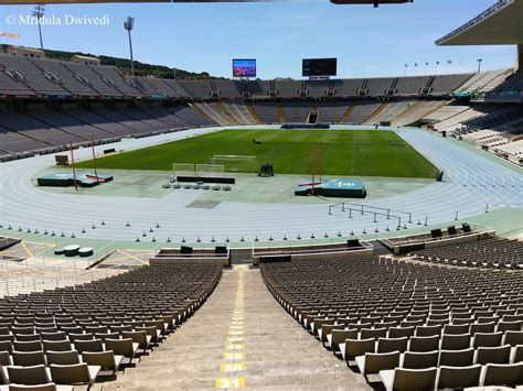 barcelona olympic stadium olympic stadium barcelona travel tales from india and abroad