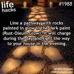 glow in the paint lifespan diy hacks crafts 1988 line a pathway with