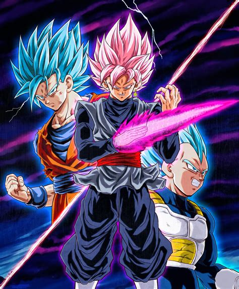 imagenes de goku rose goku y vegeta vs black ssj rose by naruto999 by roker on