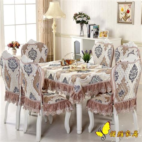 luxurious dining table cloth chair covers cushion
