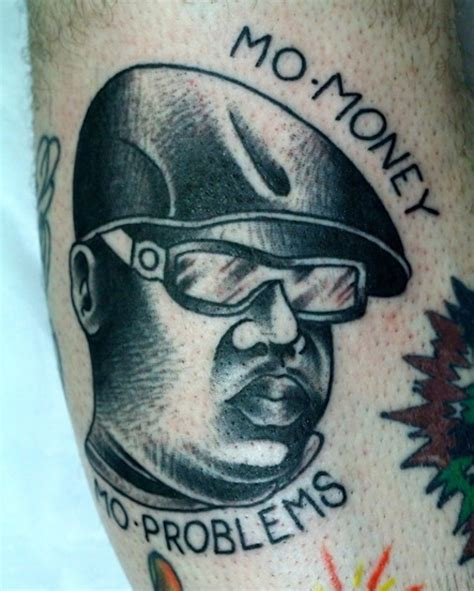 biggie smalls tattoos needles and sins odes to notorious big