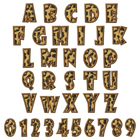 free printable animal fonts leopard font by grand slam designs home format fonts on