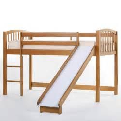 bunk bed with slide schoolhouse junior loft with slide pecan bunk beds