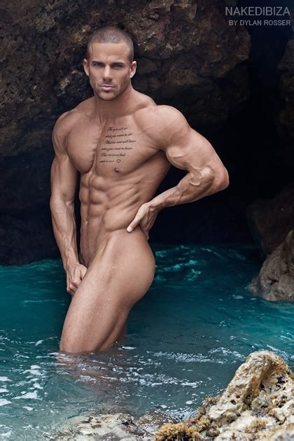 Naked gay male model