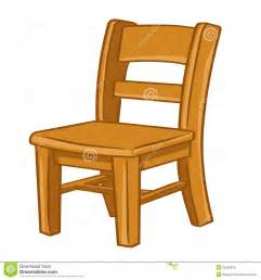 Wood chair isolated illustration royalty free stock photos image