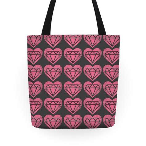 heart tote bag pattern diamond heart pattern tote bag lookhuman