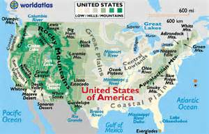 map of mountains in america kyle history unit 2 regions of the u s