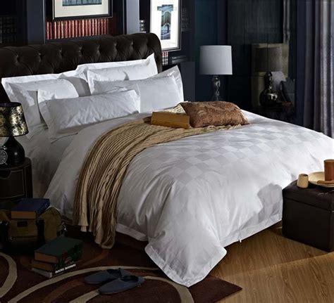 stars hotel  cotton satin luxury white hotel bed