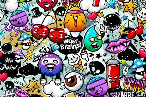 graffiti wallpaper b and m graffiti seamless pattern 1 creative graffiti and patterns